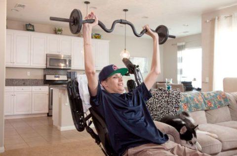 Kris Boesen, diagnosed quadriplegic