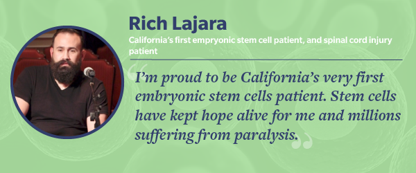 Rich Lajara, participant in a clinical trial for spinal cord injuries
